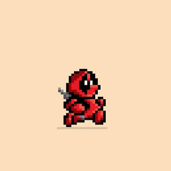 8bit Deadpool Bestpicever Handyhintergrund