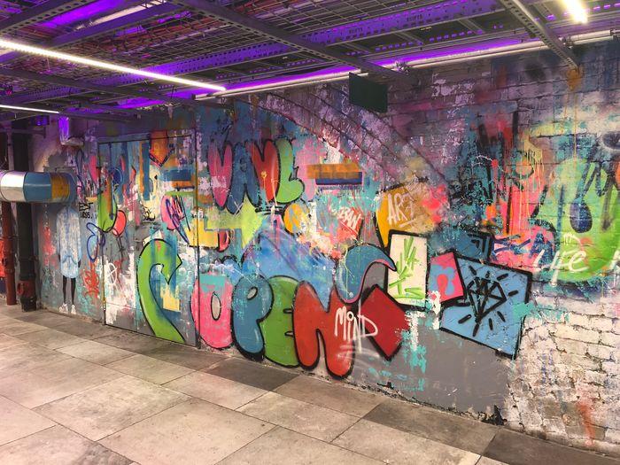 Wall Graffiti Art Brick Wall Stone Colourful use of a wall