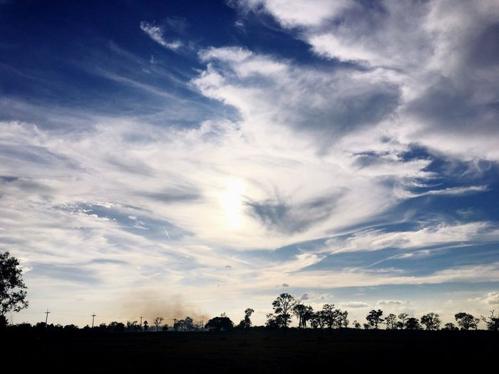 Sky Silhouette Cloud - Sky Tranquil Scene Beauty In Nature Nature Tree Tranquility No People Scenics Landscape Day Sunset Outdoors