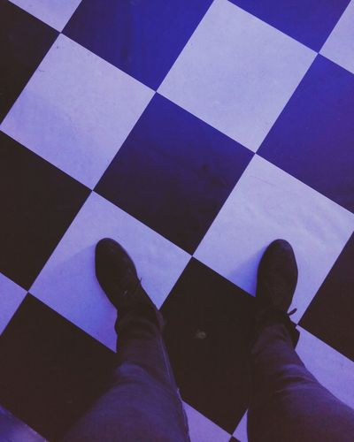 on the ground :) Purple Human Body Part Human Leg Low Section Personal Perspective One Person Human Foot Real People Tiled Floor Shoe Indoors  Tile Pattern People Lifestyles Leisure Activity Close-up Day Adult One Man Only
