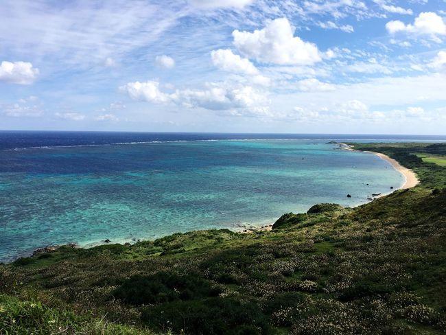 Sea Beauty In Nature Cloud - Sky Nature Sky Day Trip Ishigaki Island Trip Photo Nature Beauty In Nature 石垣島 Blue Blue Sea Green Color Green