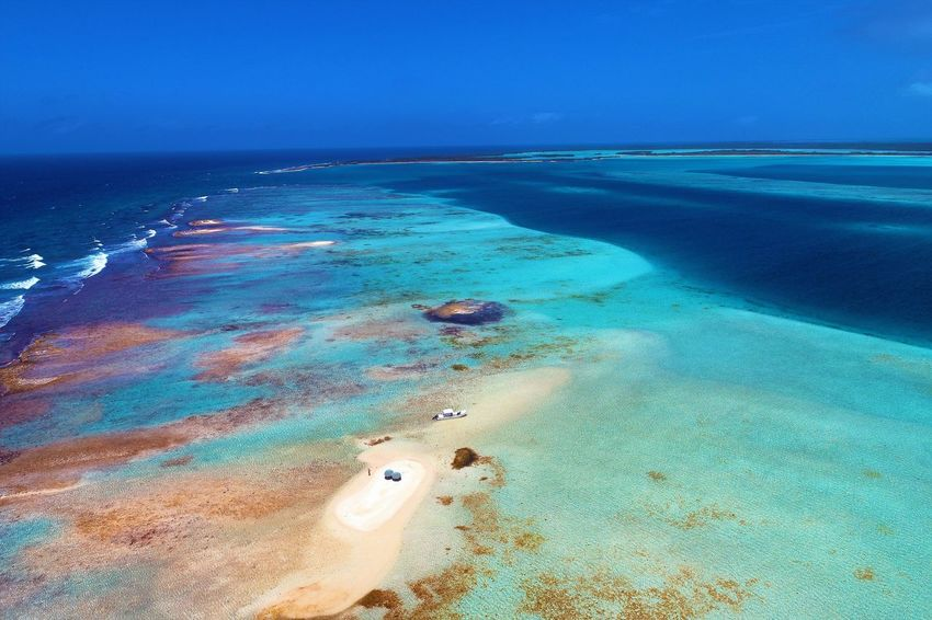 Aerial view of island and beach in Los Roques, Venezuela Sea Water Land Scenics - Nature Beach Beauty In Nature Horizon Horizon Over Water Tranquil Scene Sky Nature Tranquility Sand No People Idyllic Day Blue Travel Destinations Outdoors Marine Los Roques Madrisqui Caribe Caribbean Caribbean Life Caribbean Island Francisqui Crasqui Carenero's Beach Cayo De Agua Venezuela