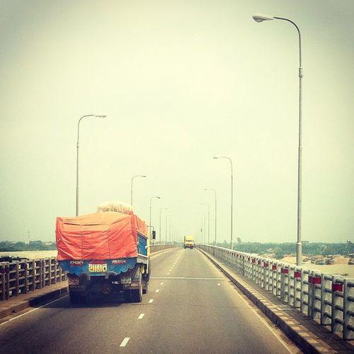 highway star ! Js Dhaka Chittagong Highway Meghna -gomotiBridge Bus Journey Travel IPhone Insta Instadaily Photojournalism Truck Instagram Everydaybangladesh