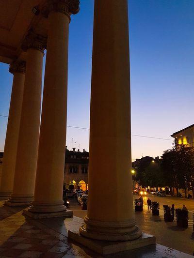 History Architecture Ancient Travel Destinations Built Structure Monument Outdoors Twilight Columns Columnades Backlight Converging Lines Churches