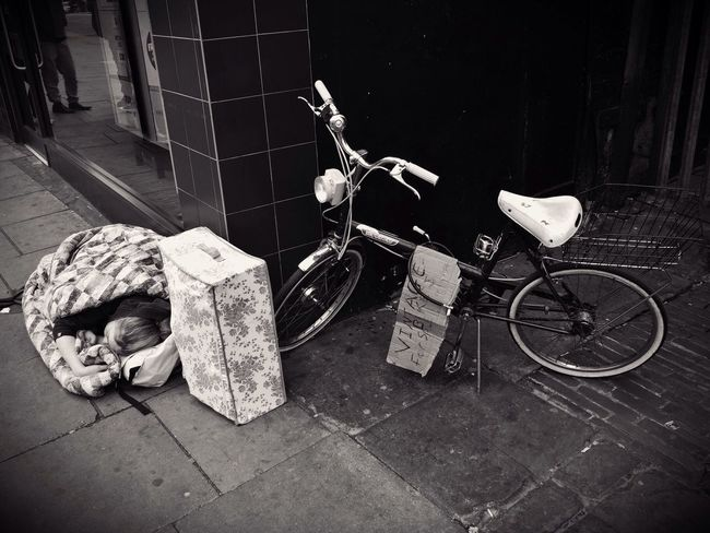 Homelessness Camden Town London. 16-04-2017 Bicycle Transportation Photojournalism Steve Merrick Stevesevilempire Olympus Zuiko London Homeless Homelessness  Sleeping Rough Rough Sleepers Camden Town Camden