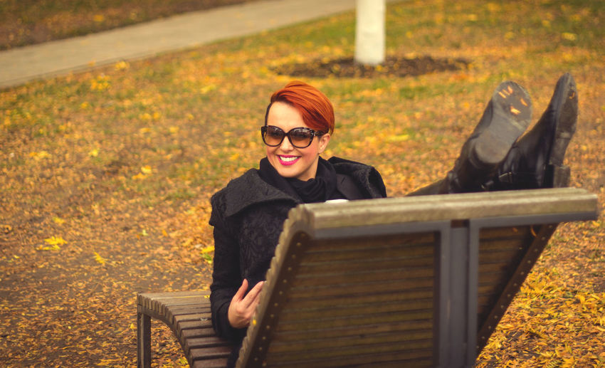 Autumn Autumn Colors Brussels EyeEm Best Shots EyeEm Nature Lover EyeEm Selects EyeEm Gallery EyeEmNewHere Park Bench Autumn Enjoying Life Eye4photography  Eyeglasses  Happiness Lifestyles Looking At Camera Nature Park - Man Made Space Portrait Smiling Young Women