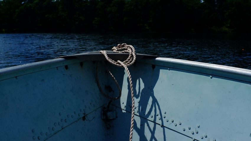 Lake Country Minnesota Beauty In Nature Boat Cleat Close-up Day Mode Of Transport Moored Nature Nautical Vessel No People Outdoors Pequot Lakes Rope Sailing Sailing Ship Sea Sky Tied Up Transportation Tree Water