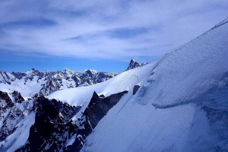Mount Blanc Mountain Snow Winter Cold Temperature Sky Mountain Range Cloud - Sky Landscape Snowcapped Mountain Ski Track Rocky Mountains Deep Snow Mountain Peak Powder Snow Natural Landmark