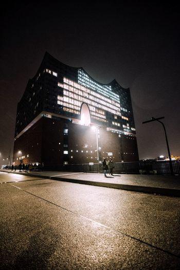 Elbphilharmonie Elbphilharmonie Night Building Exterior Architecture Built Structure Hamburg Outdoors