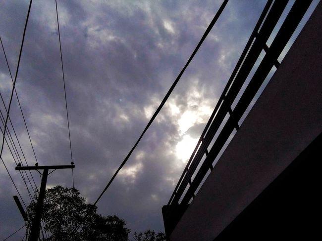 My Friend's CliCKk. Sky Notsunny Rainy Days Perfect Clouds Sunshine Sun ☀ Is Hiding Hiding Sun Blackclouds Fullofrain Amazing View Beautiful Nature Goodcapture Trees And Buildings