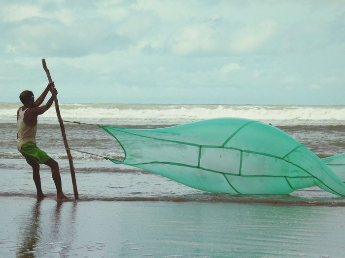 Check This Out Hello World Hi! Taking Photos Cox's Bazar Fisherman Fish Nets Beach Seaside Working Working Hard Live For The Story
