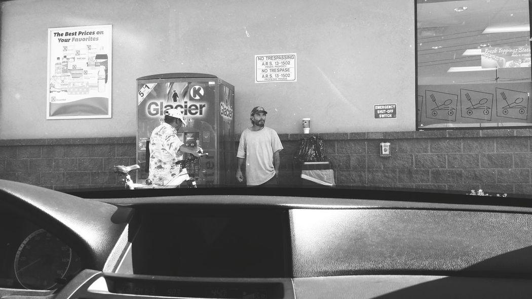 Through The Window Black And White Tucson Arizona