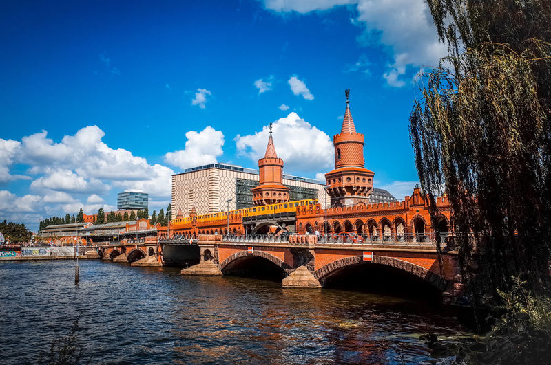 Bridge Across River In Berlin