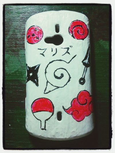 Naruto - inspired Mobile Phone case. Drawn by me <3