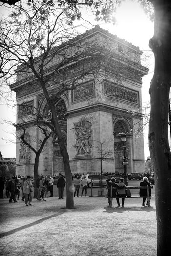 Arc De Triomphe Arch Architecture Built Structure History Large Group Of People Nikon D810 Tourism Travel Destinations Hotel Art
