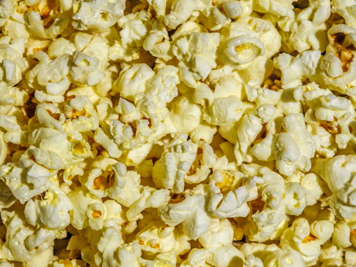 Popcorn! Backgrounds Cinema Snacks Close-up Corn Food Food And Drink Full Frame High Angle View Movie Snacks No People Popcorn PopcornTime Raw Food Snack Still Life