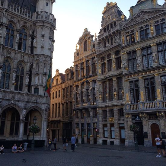 Building Exterior Architecture City Travel Destinations Brussels Travel Belgium Grand Place Bruxelles Evening Light And Shadow Light How I See The World Summer Summer Travel