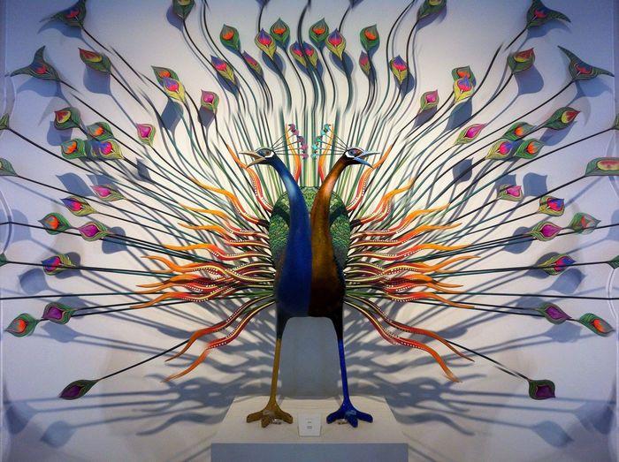 Av Dos Cabezas Ganjareta Momentos De Ocio Musea De Arte Popular Pavoreal Psychedelic Bird Two Heads Psychodelic
