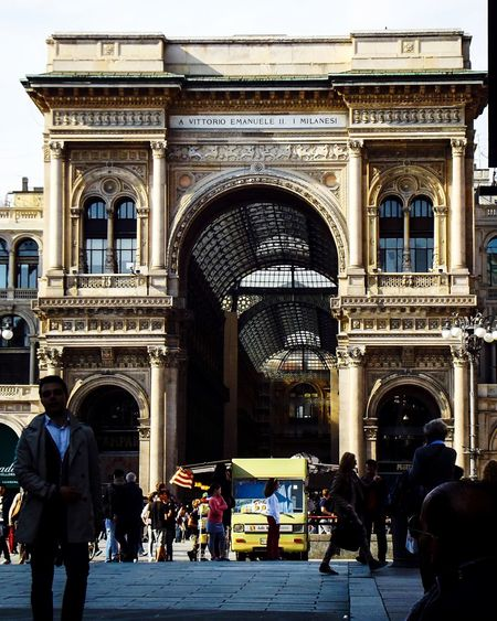 Vittorio Emanuele Architecture Group Of People Building Exterior Built Structure Real People Men Arch Crowd Lifestyles Women Large Group Of People Building Adult Leisure Activity Travel Travel Destinations History Day City Outdoors