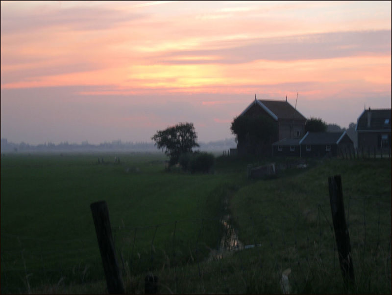 Water De Waver Pumphouse Evening Tranquil Scene Blue Blue Hour Holland Scene Sunset Waver Dyke  Meadow Evening Mood