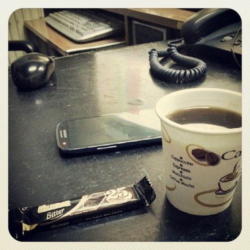 Sabah Kahvem  Ülker Bitter çikolata s3 mause ofis atolye