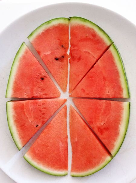 Watermelon Letter O Food Art