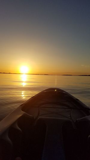 Sunset Water Horizon Over Water Tranquil Scene FolsomLake Goodbyes Last Kayak Goodbye Folsom
