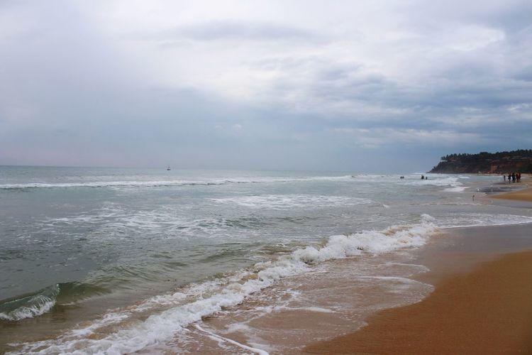 Varkala beach,