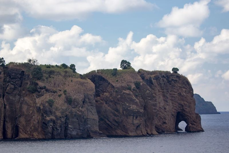Cliffs And Sea Sky Cloud - Sky Rock Nature Rock - Object Day Solid