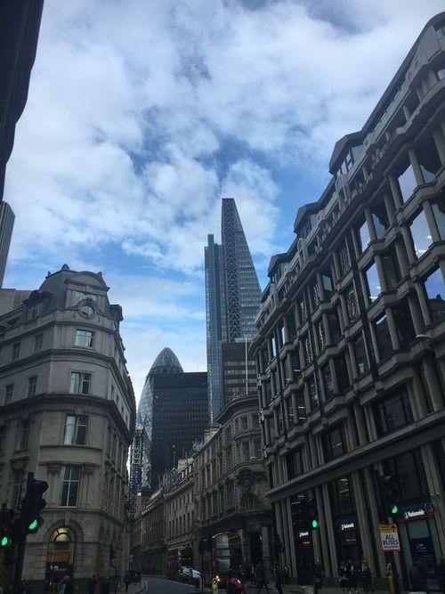 Cheesegrater Building Leadenhall Building London Gherkin Building Summer June