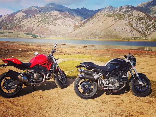 Ducati Motorcycle Mountain Landscape Land Vehicle Outdoors Lakes