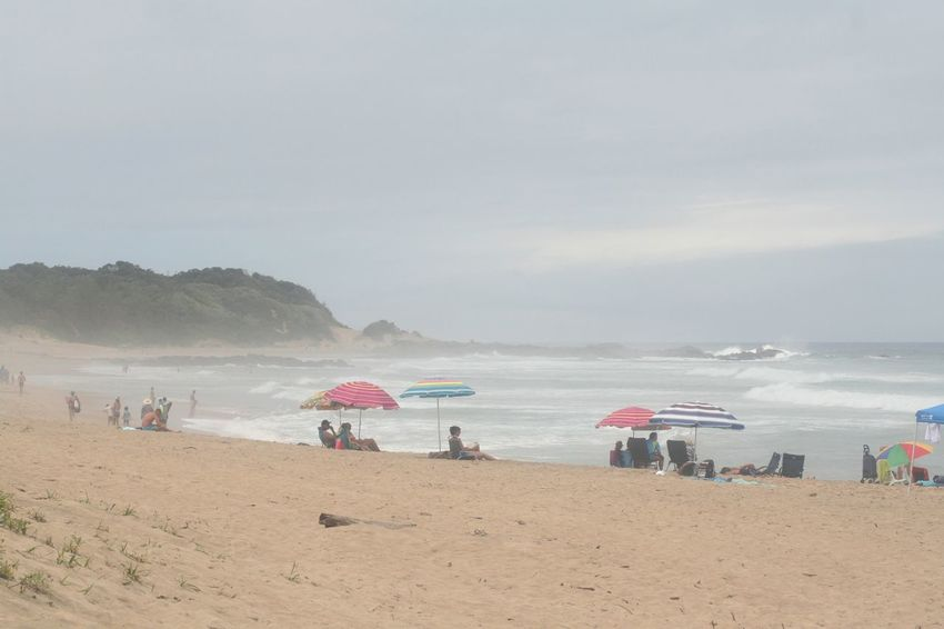 Holiday Beach Enjoyment KwaZulu-Natal Coast Large Group Of People Leisure Activity Lifestyles Nature Outdoors People Real People Sand Sea Shore Summer Umbrellas Vacations Water Weekend Activities Be. Ready.