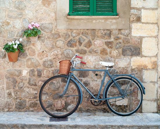 Idyylic street scene in Valldemossa on Mallorca island Baleares Balearic Islands Bicycle Bike Idyllic Idyllic Scenery Majorca Majorca, Spain Romantic Scenery SPAIN Street Scene Travel Destinations Valldemossa Vintage Art Is Everywhere The Street Photographer - 2017 EyeEm Awards