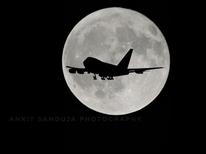 Traveling to the Moon Moon Night Outdoors Sky Nature Lights Beautiful Eyeemphoto Tourism Tourist People Superimpose Plane Flight ✈ Photography Fullmoon Moon