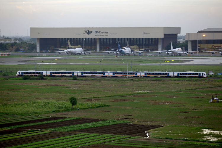 Railink Soekarno Hatta International Airport Railink Rail Soetta Soekarno Soekarno Hatta Bandara Garuda Indonesia Sky Airplane Keretaapi Kereta World International Destinations Tourism Banten Tangerang INDONESIA Getty Images Occupation Business Finance And Industry Social Issues Beach Flying Business