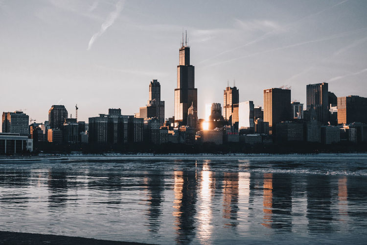 Chicago Chicago, Illinois City Cityscape Modern Skyline Adidas Adler Camo Hypebeast  Lake Nike