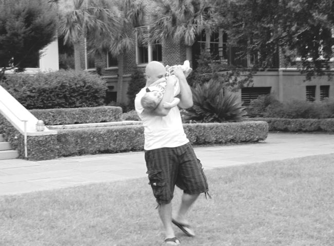 Full Length Built Structure Leisure Activity Childhood Person Lifestyles Day Outdoors Father & Son Fatherhood Moments Outside Outdoor Photography Laughing Playing Charleston SC