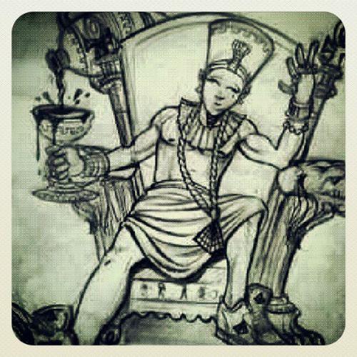 Newskool Drawing Egyptianpharaoh Thrown ROYALITY Chillin