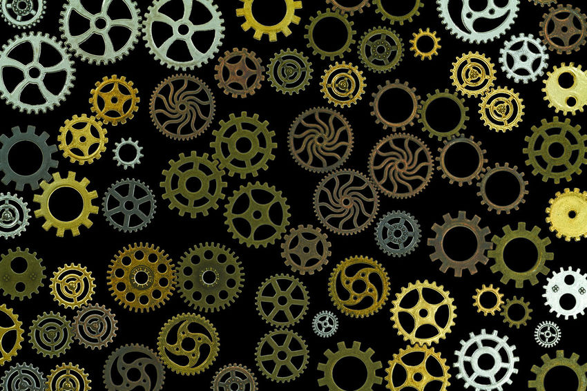 gears Abundance Backgrounds Biology Circle Close-up Design Floral Pattern Full Frame Gear Geometric Shape Healthcare And Medicine Indoors  Large Group Of Objects Multi Colored No People Pattern Repetition Scenics Science Shape Staempunk Technology Textile