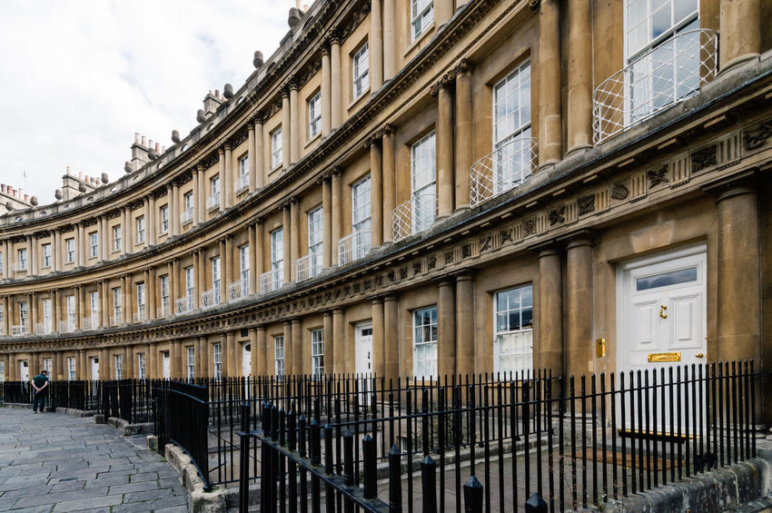 The Circus in Bath Architectural Column Architectural Feature Architecture Bath Building Building Exterior Built Structure Circle Circles City City Life Column Day Exterior Façade Historic In A Row No People Outdoors Repetition Royal Side By Side Sky Tourism Travel Destinations