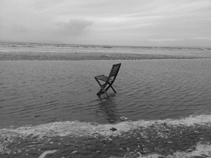 Creative Light And Shadow Getting Creative... Taking Photos Scotland Beachphotography Ayr Beach Have A Seat Chill Time Chair