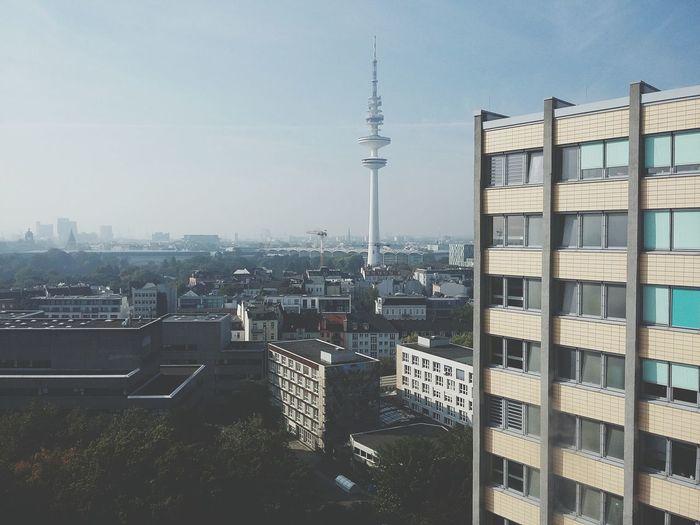 Hamburg Messeturm II. · Germany Great View Cityscape Skyline Universität Hamburg Across The Sky