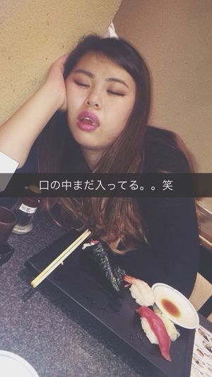 Sushi すしざんまい Everyday EVERYTIME Likeit Favorite Shescute  Sleeping Lol :)