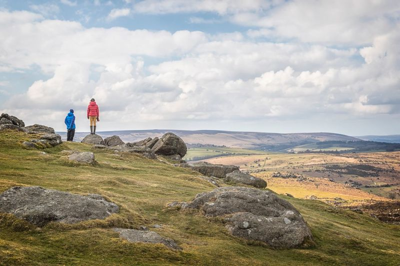 Rambling - Dartmoor National Park Wilderness Moorland Dartmoor Ramblers Cloud - Sky One Person Standing Rock - Object Sky Hiking Full Length Landscape Adventure Real People Mountain Day Outdoors Mountain Range Scenics Beauty In Nature Nature