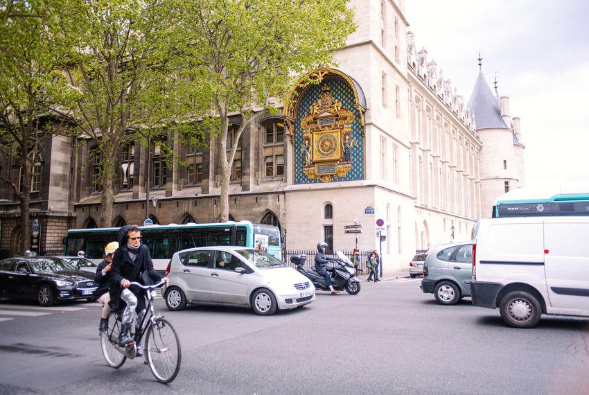 Afternoon at Conciergerie, IIe de la Cite, Paris, France Bicycle Capital Cities  City Conciergerie France Golden Palais Paris Royal Urban
