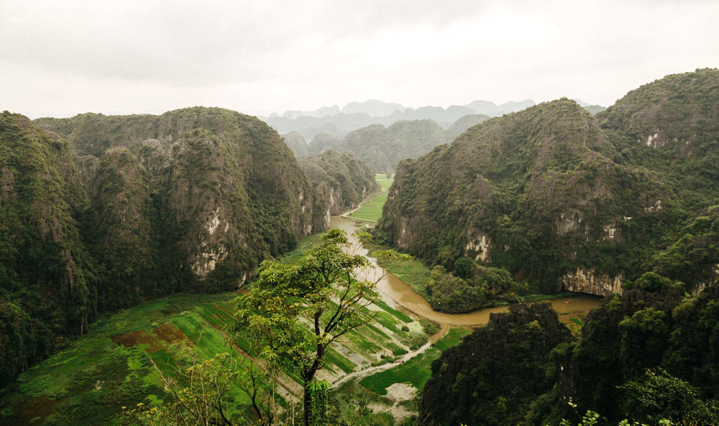 """Dry Ha Long Bay"", Nha Trang, Vietna, ASIA Beauty In Nature Day Green Green Color High Angle View Landscape Landscape_Collection Landscape_photography Mountain Mountain Range Mountain Road Nature No People Outdoors River Rivers Scenics Sky Tranquil Scene Tranquility Tree Vietnam Water Winding Road"