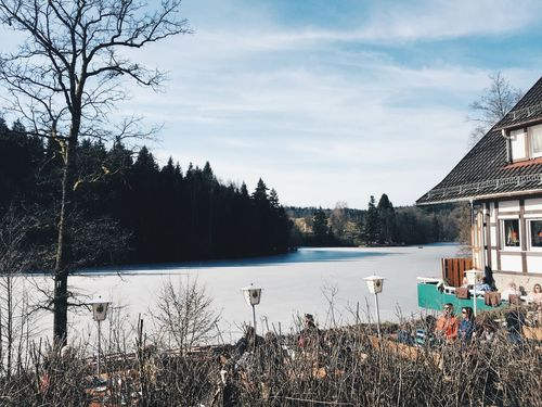 Great view over the ebnisee. Shot from last winter season. Winter See Sitting Outside Outdoors Nature_collection Vscocam Exploring Mobilephotography IPhoneography Weroamgermany