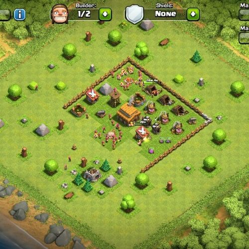 My updated version of Clashofclans Myclashofclans Androidgames Addictivegame Androidgames Clan Constructiongames Cool Mygame Fotogeek15
