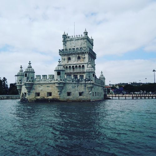 Cloud - Sky Architecture Water Built Structure History Sky No People Nautical Vessel Sea Building Exterior Day Outdoors Nature Politics And Government Tagus River Riverside Lisbon Lisboa Portugal Torredebelem Tower