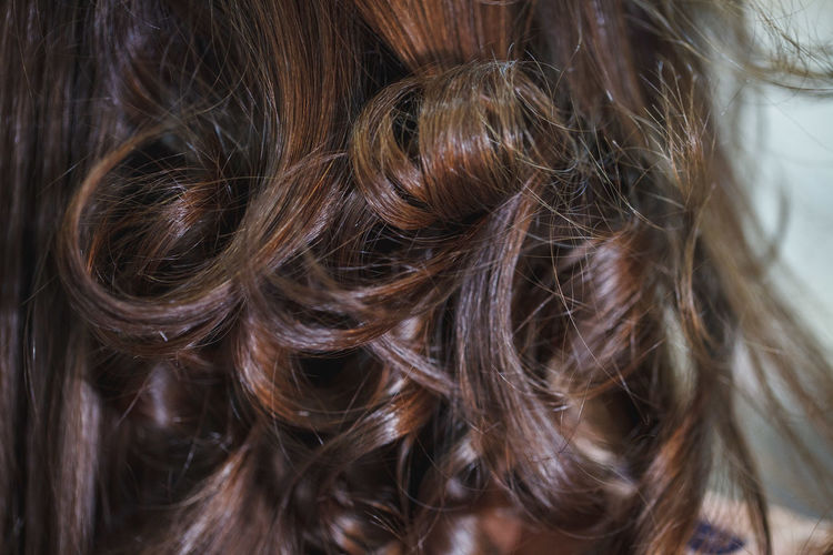 Close-up of brown hair